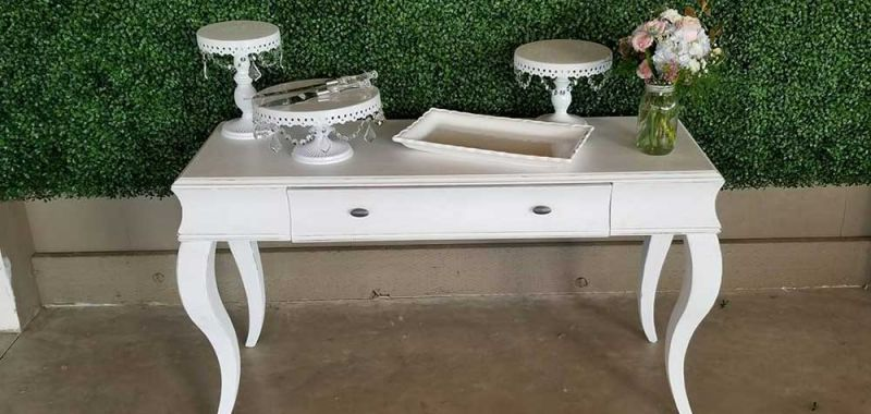 White Couch Table