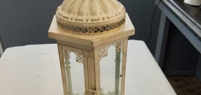 Ivory Lantern with Shabby Chic Finish - $12 ea.