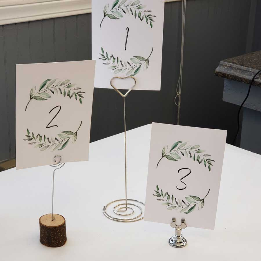 Wood, Wire & Clip Table Number Holders