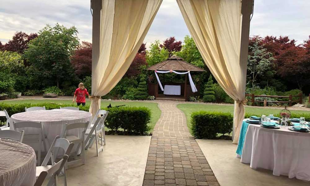 Draping with Curtain towards Gazebo