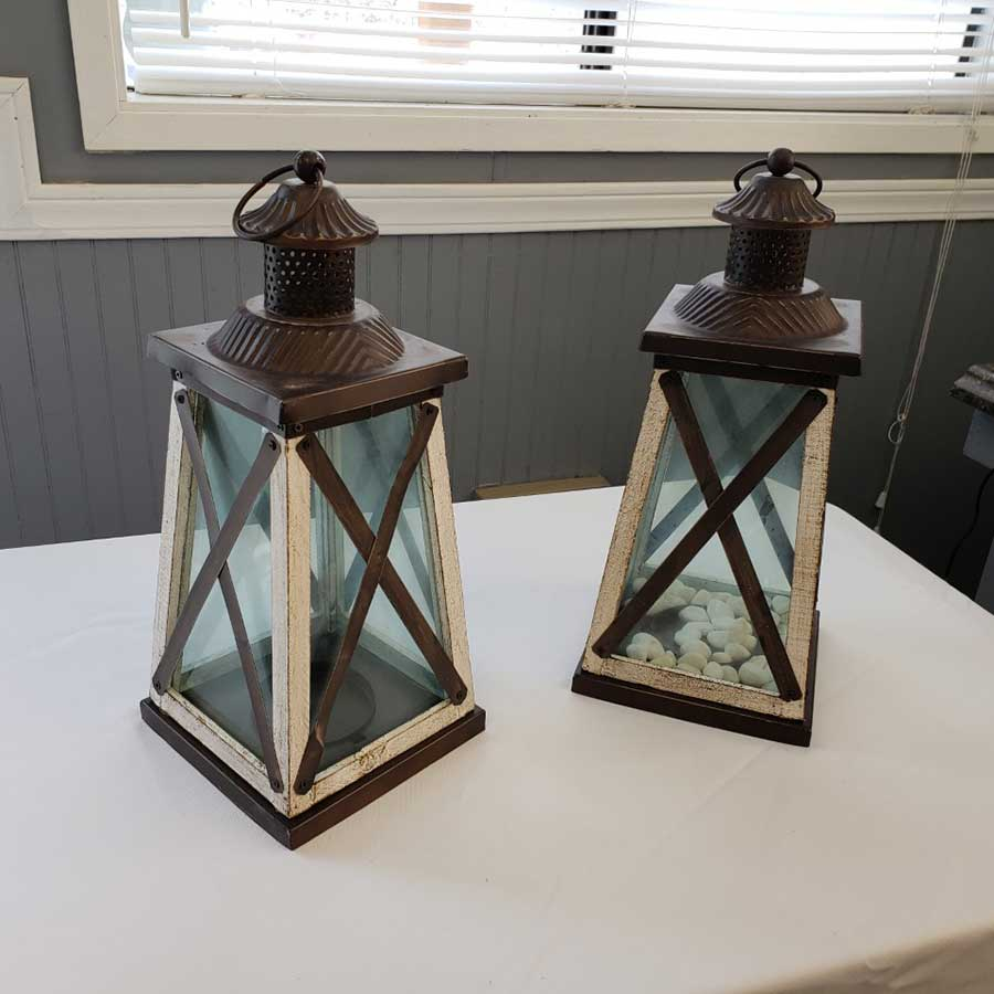 Dark Brown Lanterns - $12 ea.
