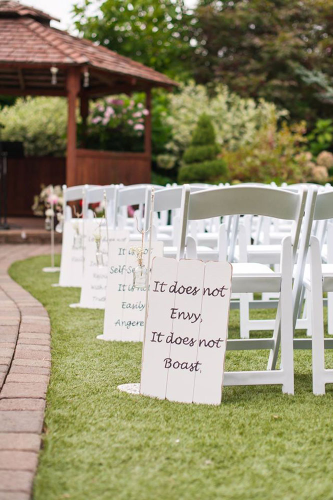 Winding Path Gardens Wedding Props